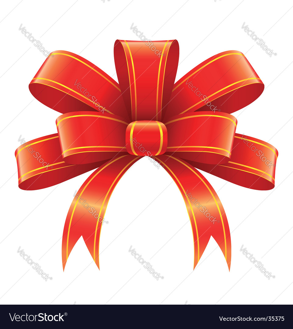 Christmas gift decoration vector image