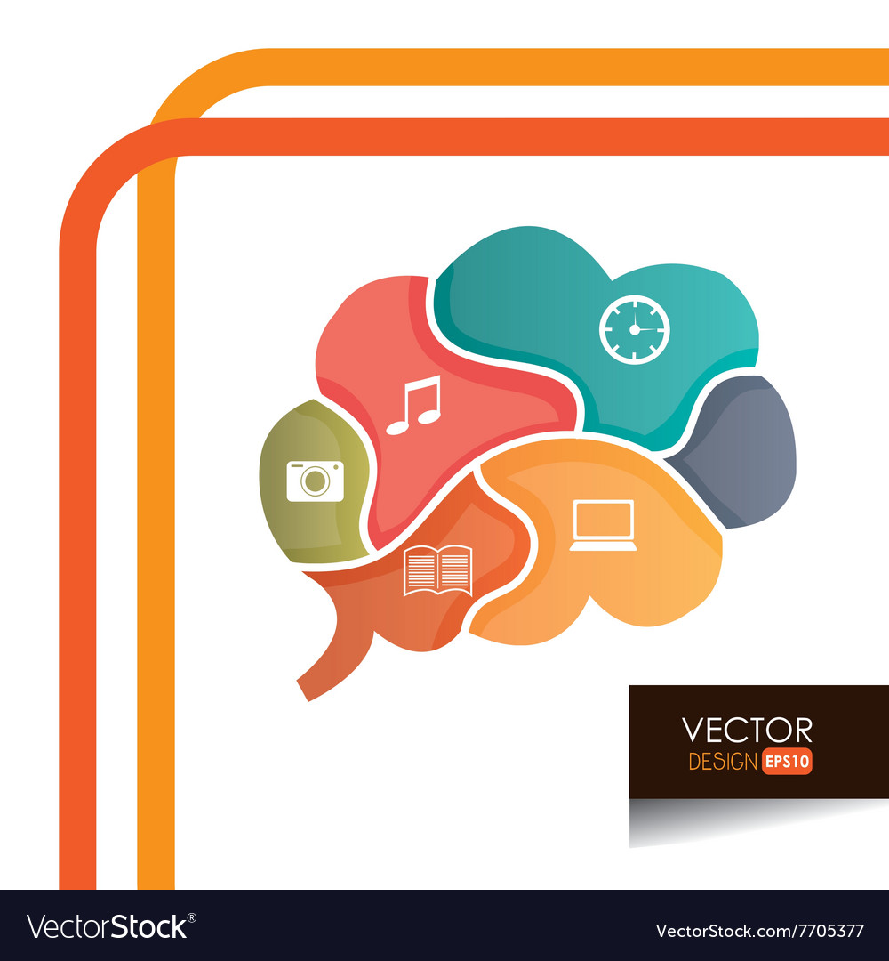 Brain storm design vector image