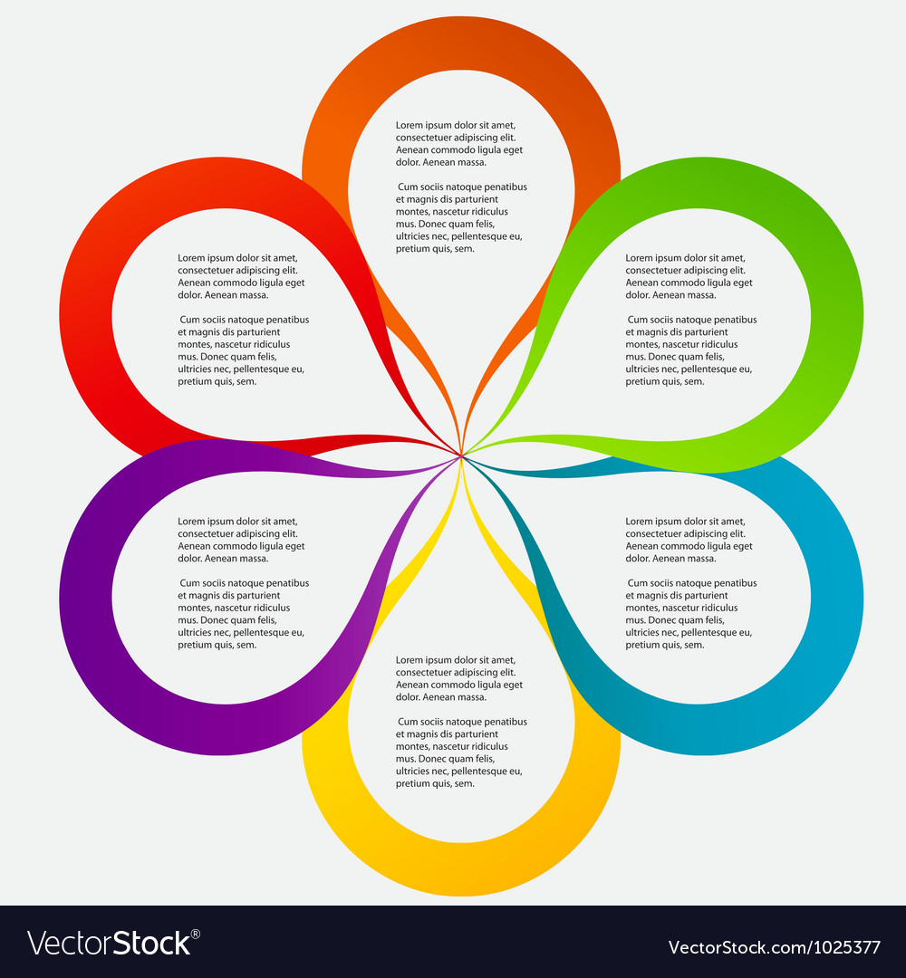 Concept of colorful circular banners in flower vector image