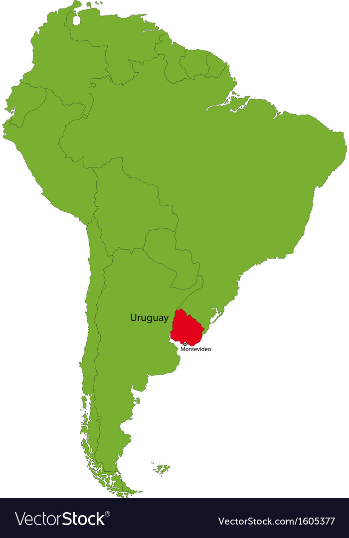 Uruguay map Royalty Free Vector Image VectorStock