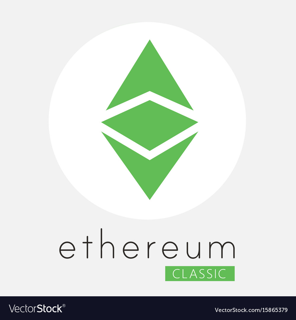 Ethereum classic etc cripto currency logo vector image