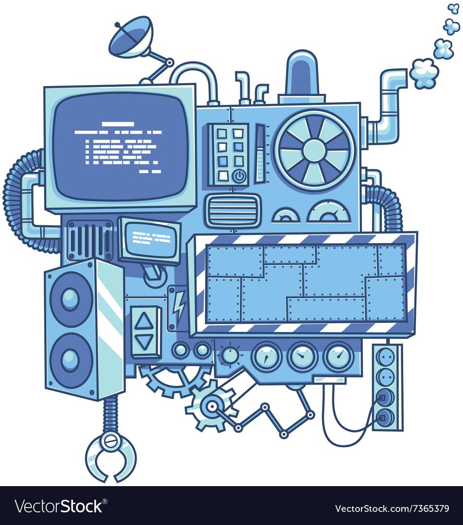 Machine 2 vector image