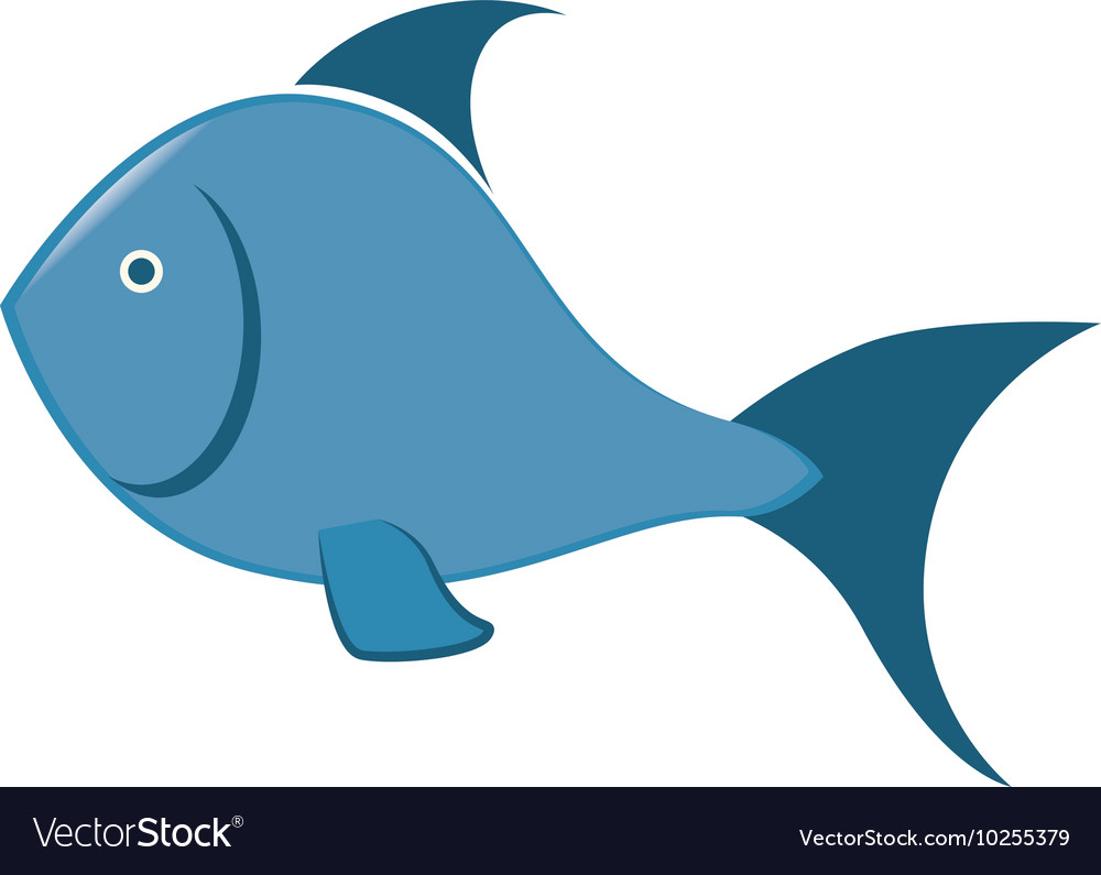 Sea fish blue icon vector image