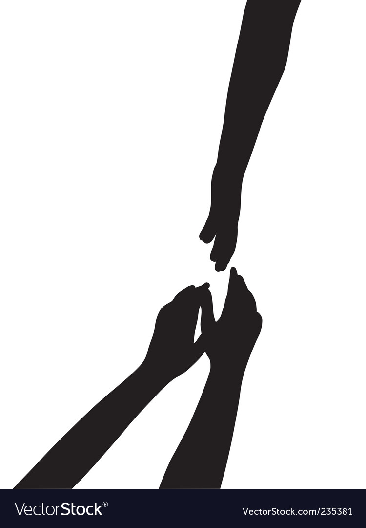 Hand silhouettes vector image