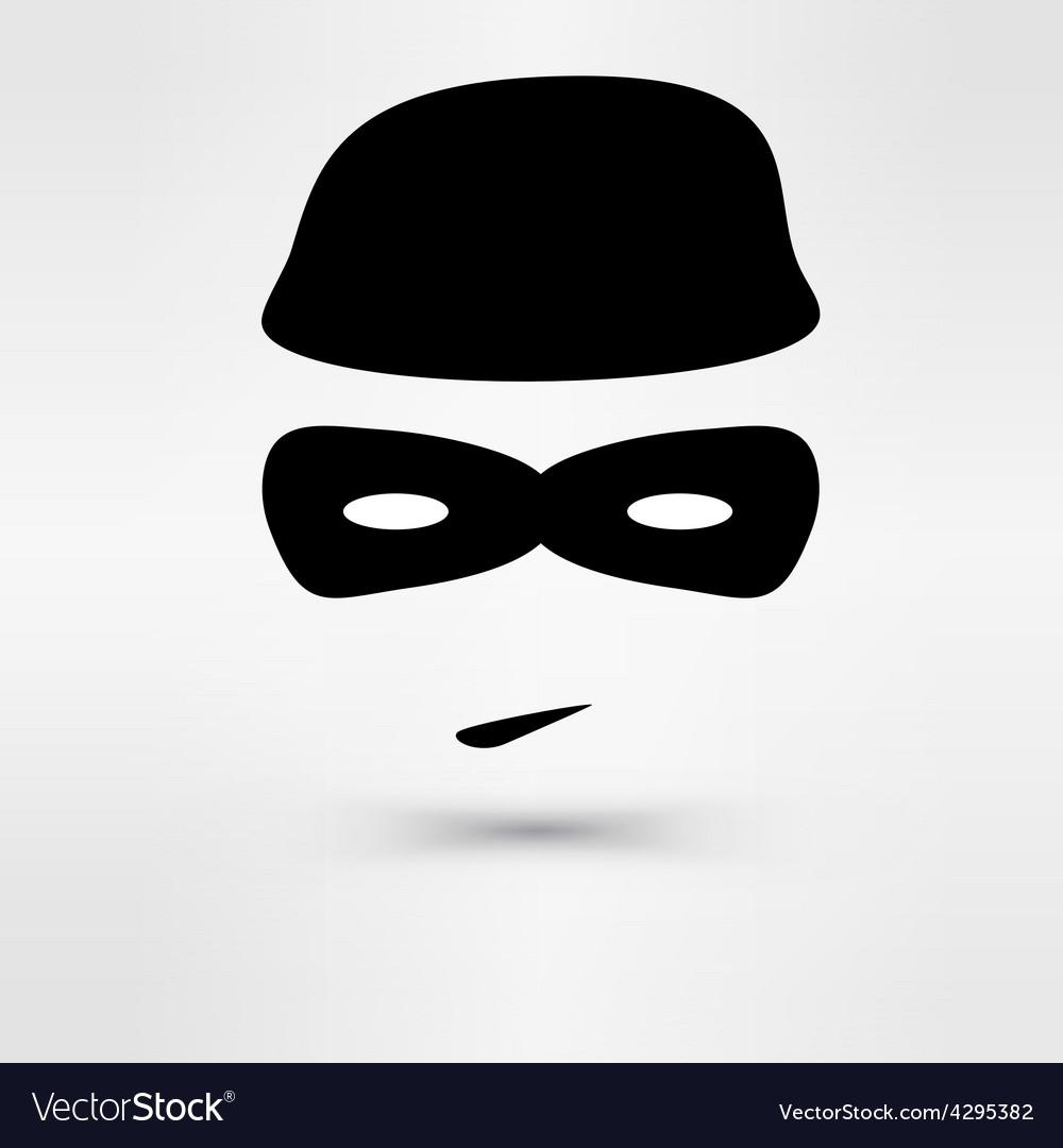 Black Icon thief vector image