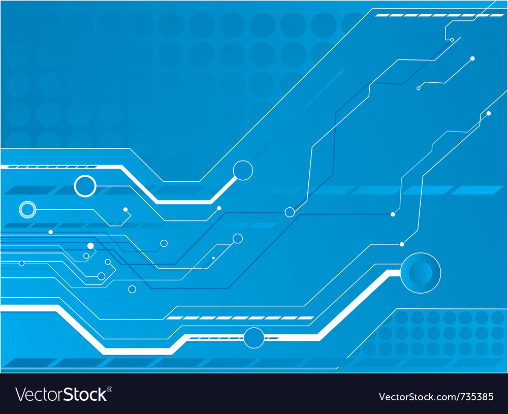 Tree Design On Circuit Board Wallpaper Vector Image: Blue Circuit Board Background Royalty Free Vector Image
