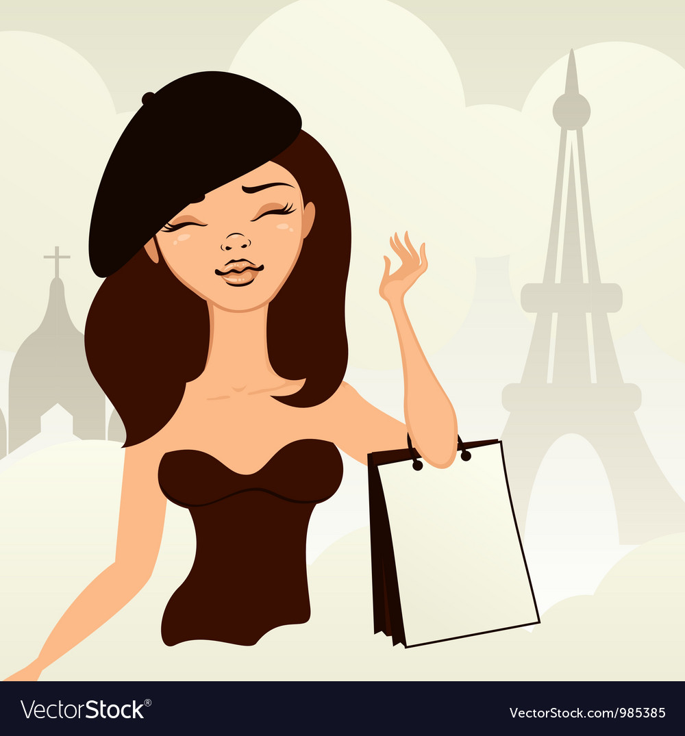 Sexy french girl vector image