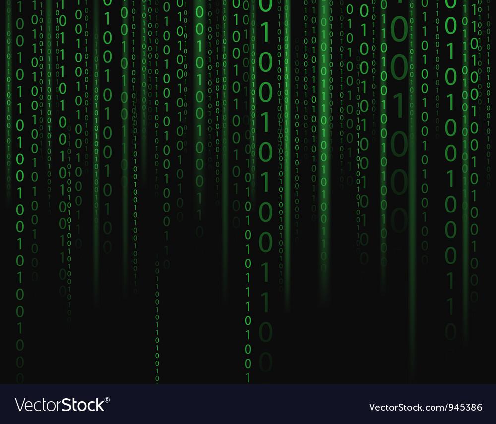 Binary stream Vector Image