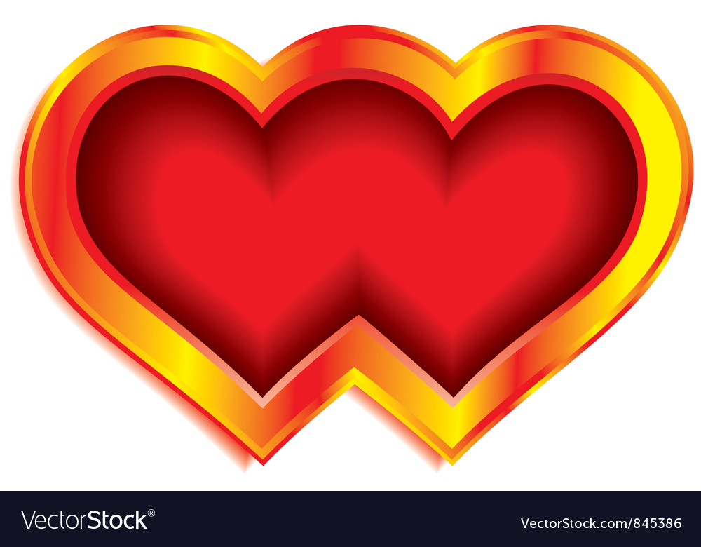 Double heart vector image