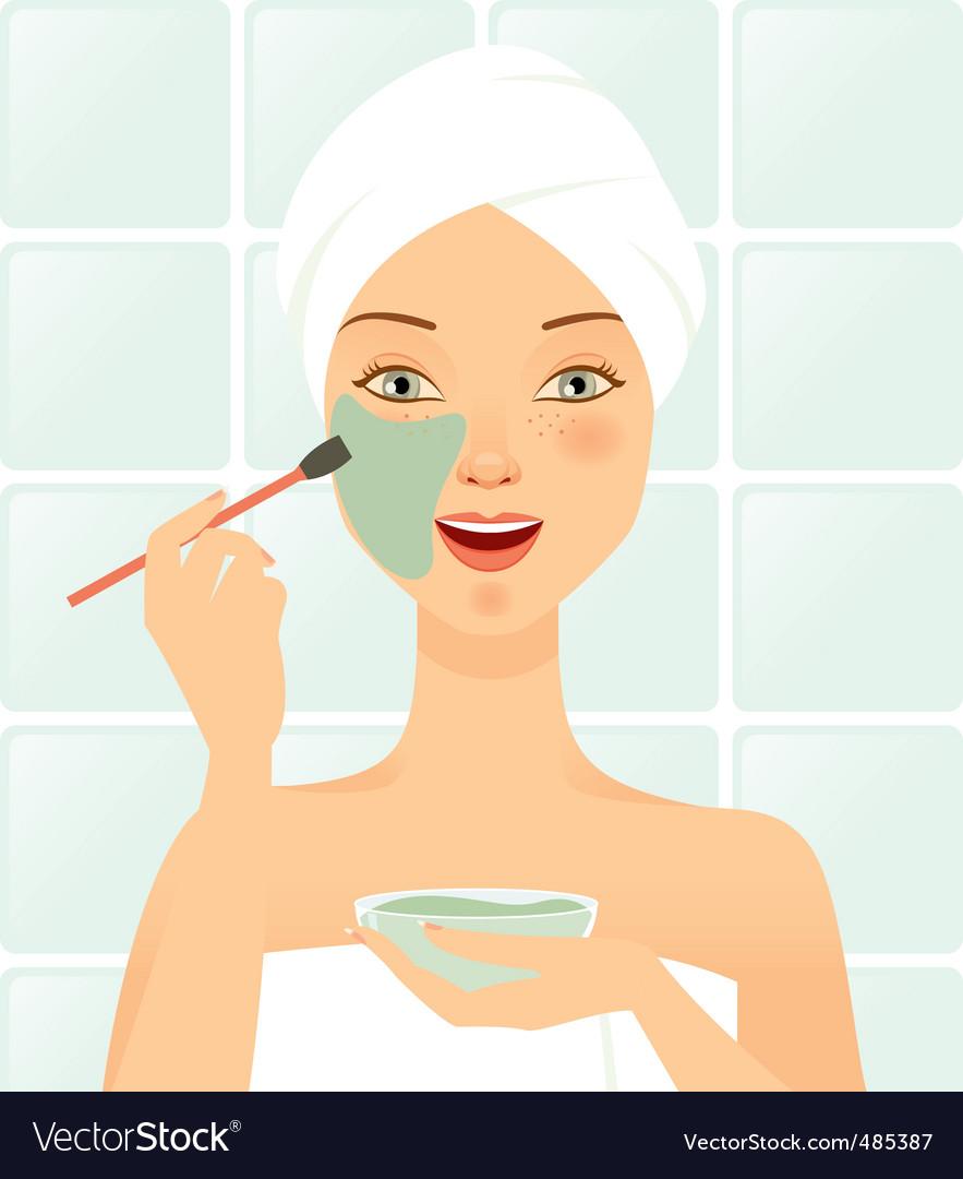 Cosmetic mask facial Vector Image