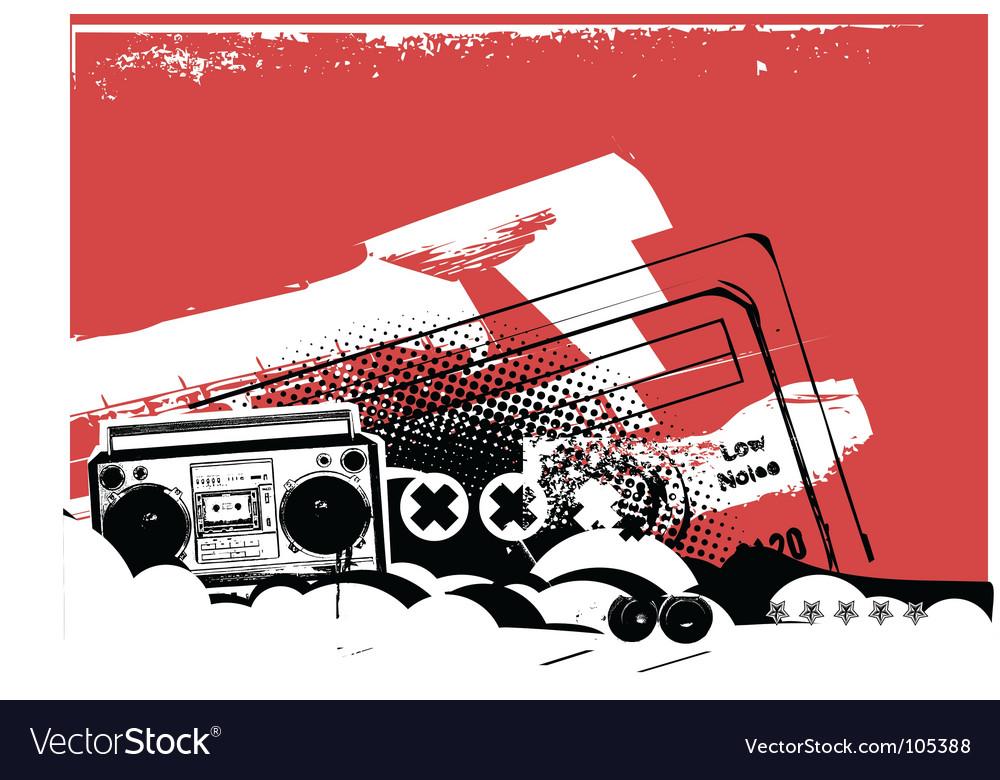 Boom box vector image