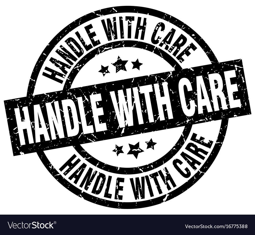 Handle with care round grunge black stamp vector image handle with care round grunge black stamp vector image buycottarizona