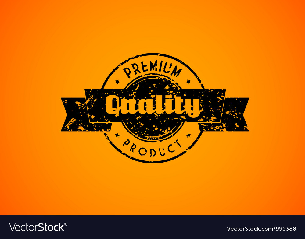 Old used quality badge for your product vector image