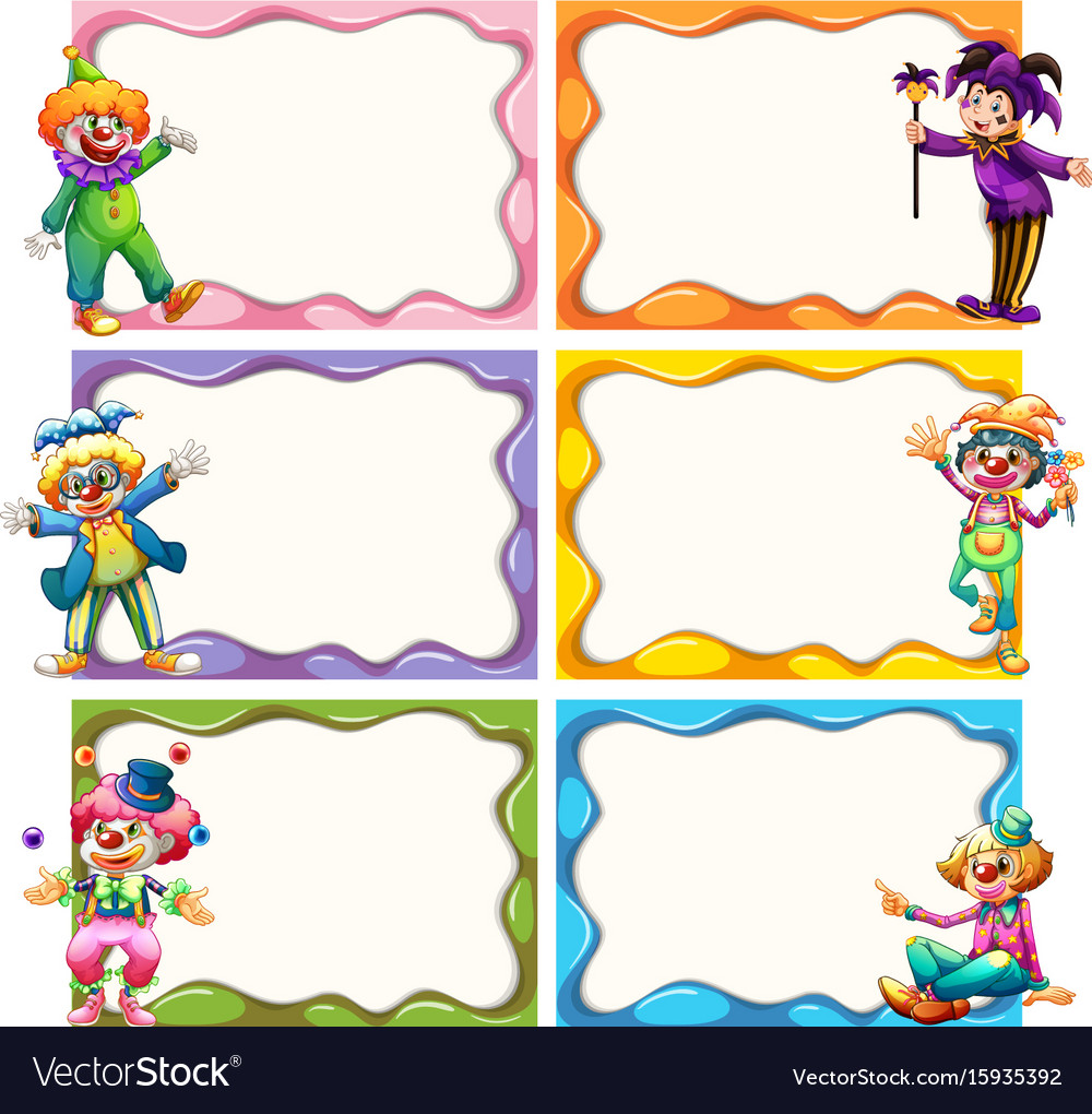 Frame template with jesters vector image