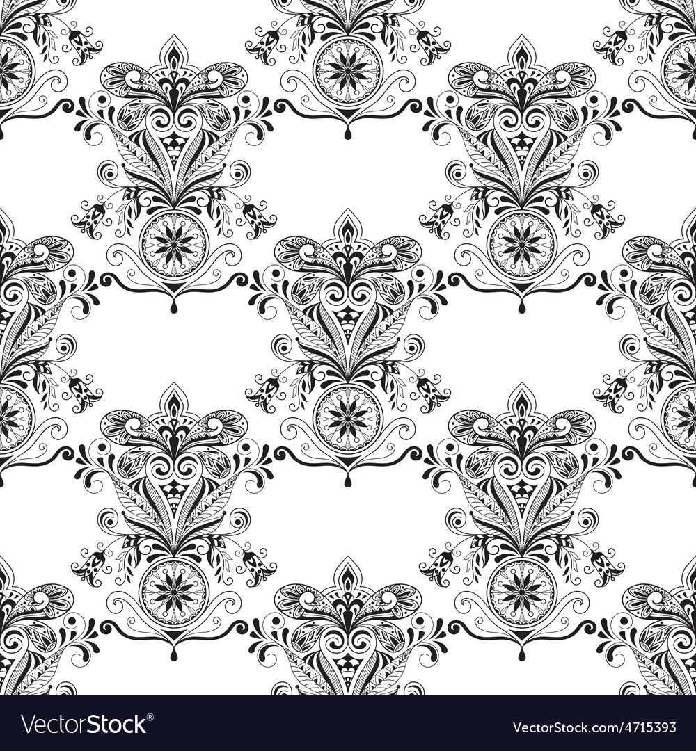 Seamless Paisley Doogle Pattern vector image