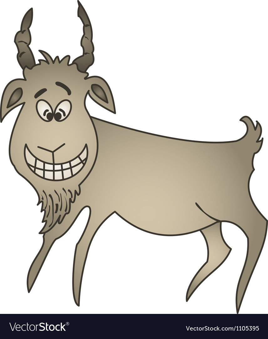 Cheerful goat vector image