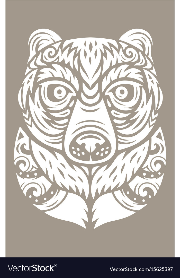 Bear totem mask vector image