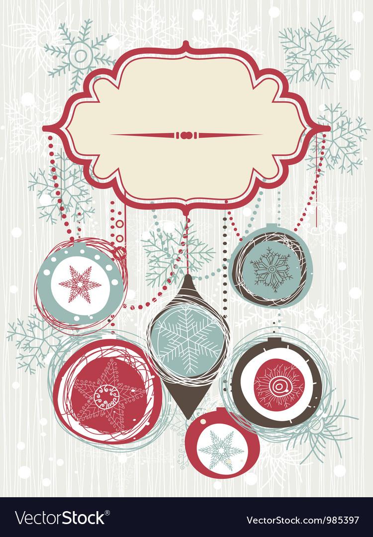 Vintage christmas invitation royalty free vector image vintage christmas invitation vector image stopboris Image collections