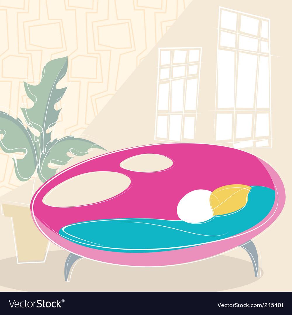 Interior design vector image