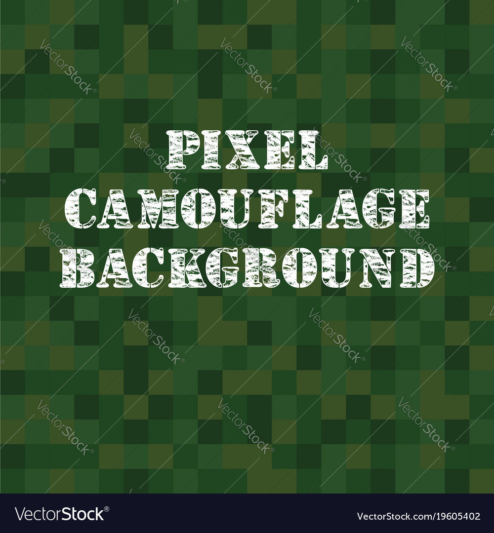 Pixel camouflage background vector image