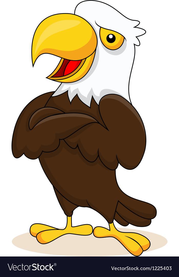 Eagle cartoon posing vector image