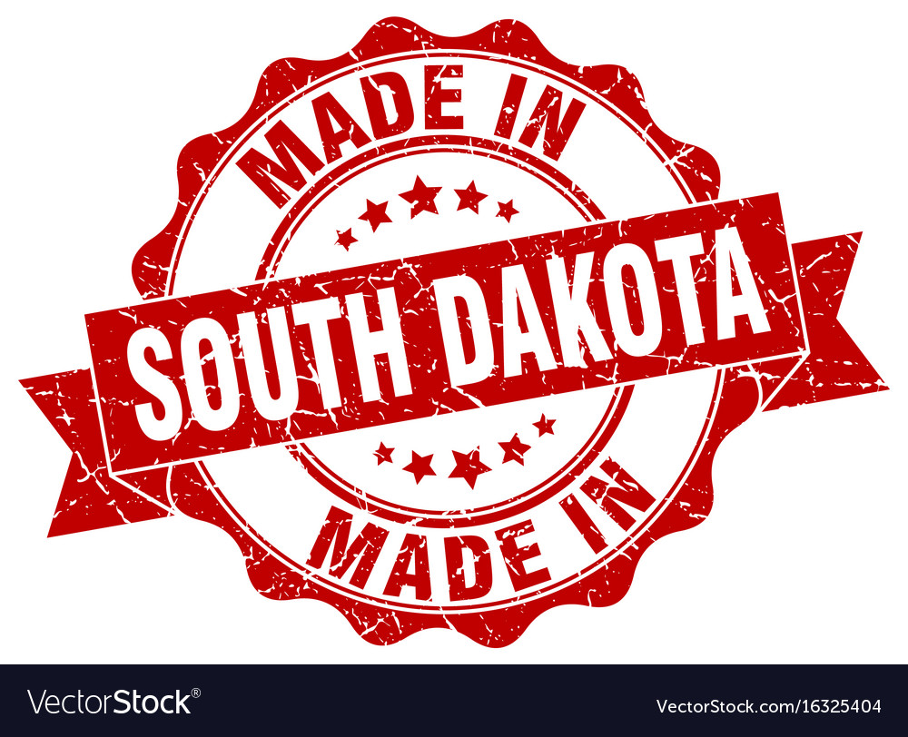 Made in south dakota round seal vector image