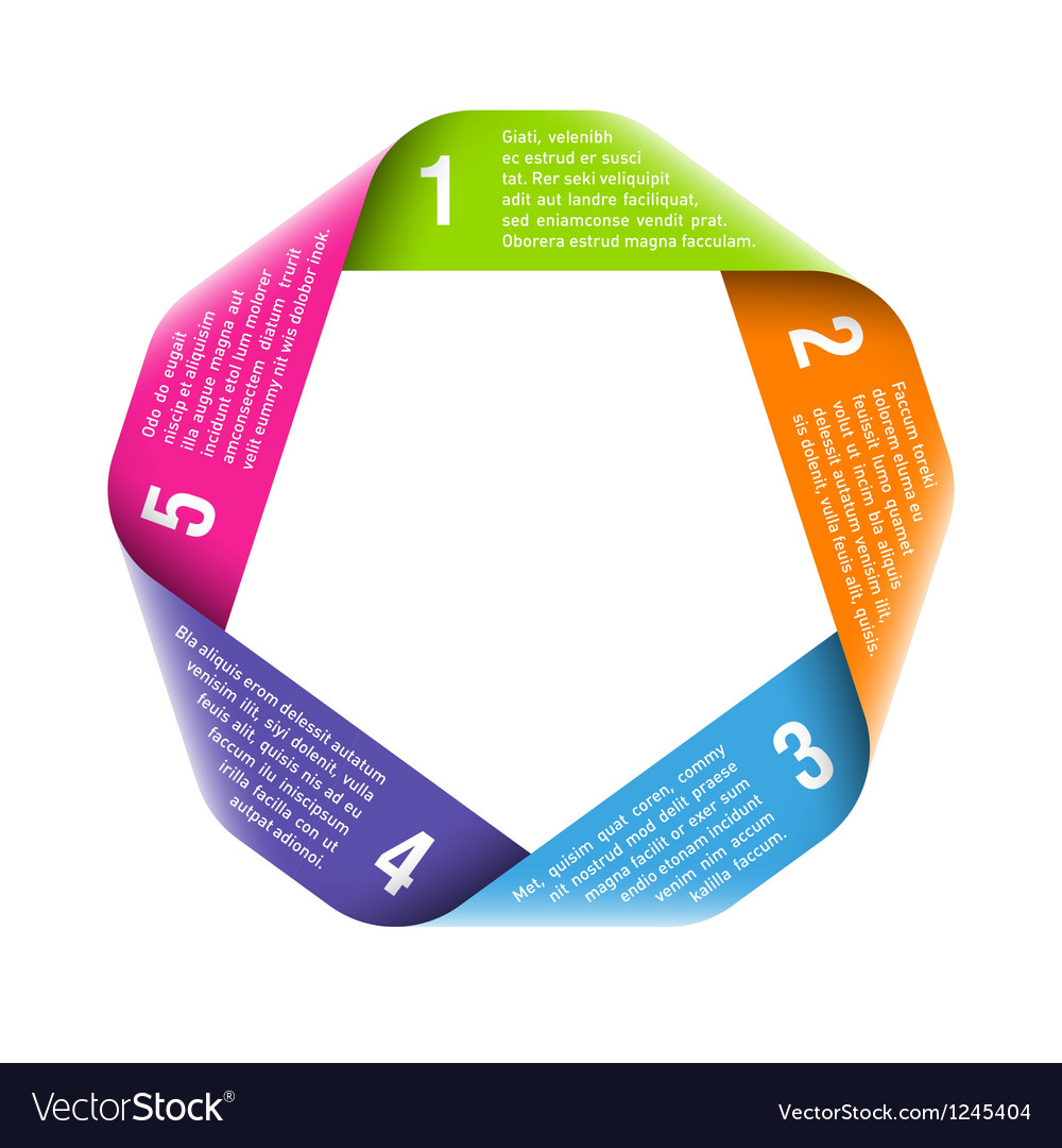 Origami process cycle vector image