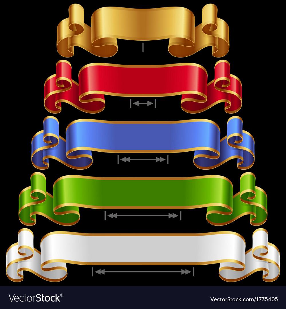 Ribbons set 12 vector image