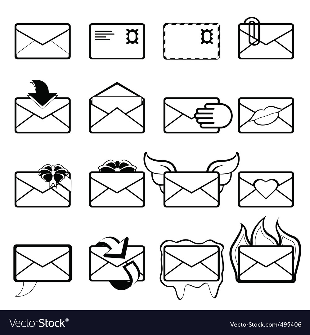 Letter set vector image