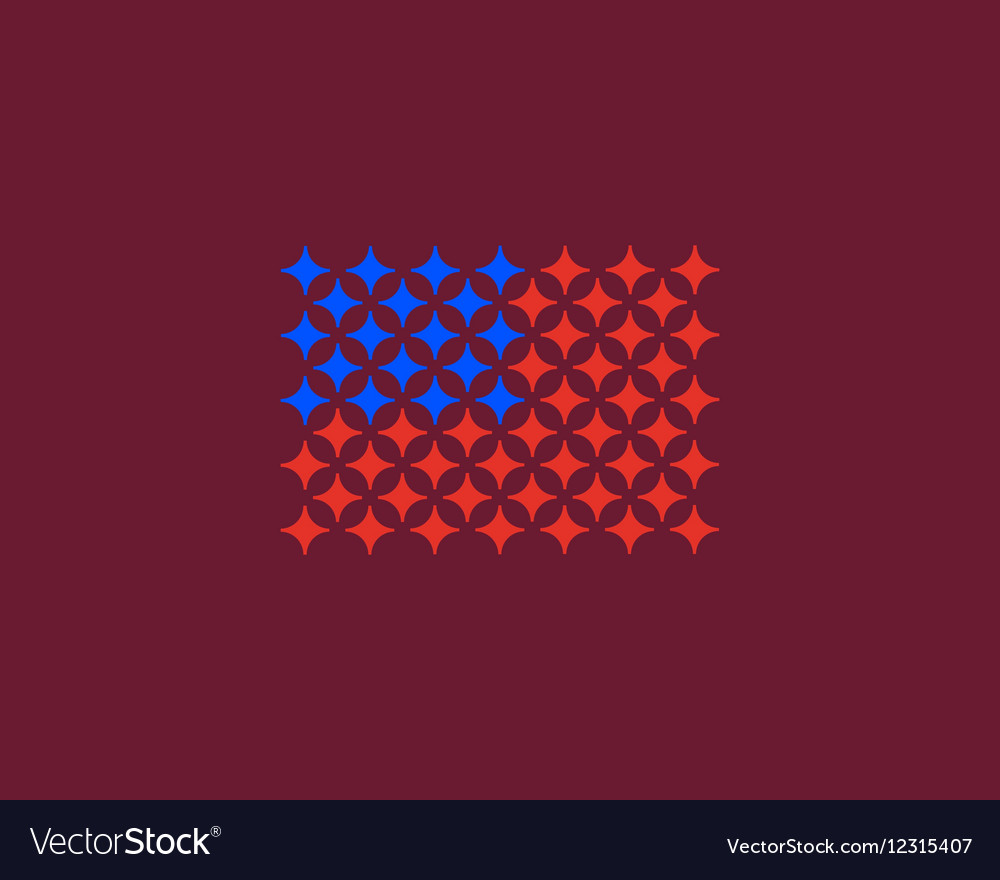 American flag made of stars USA patriot vector image