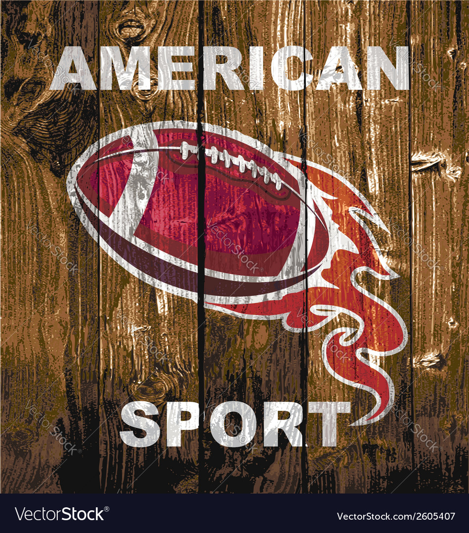 Fireball woodboard football vector image