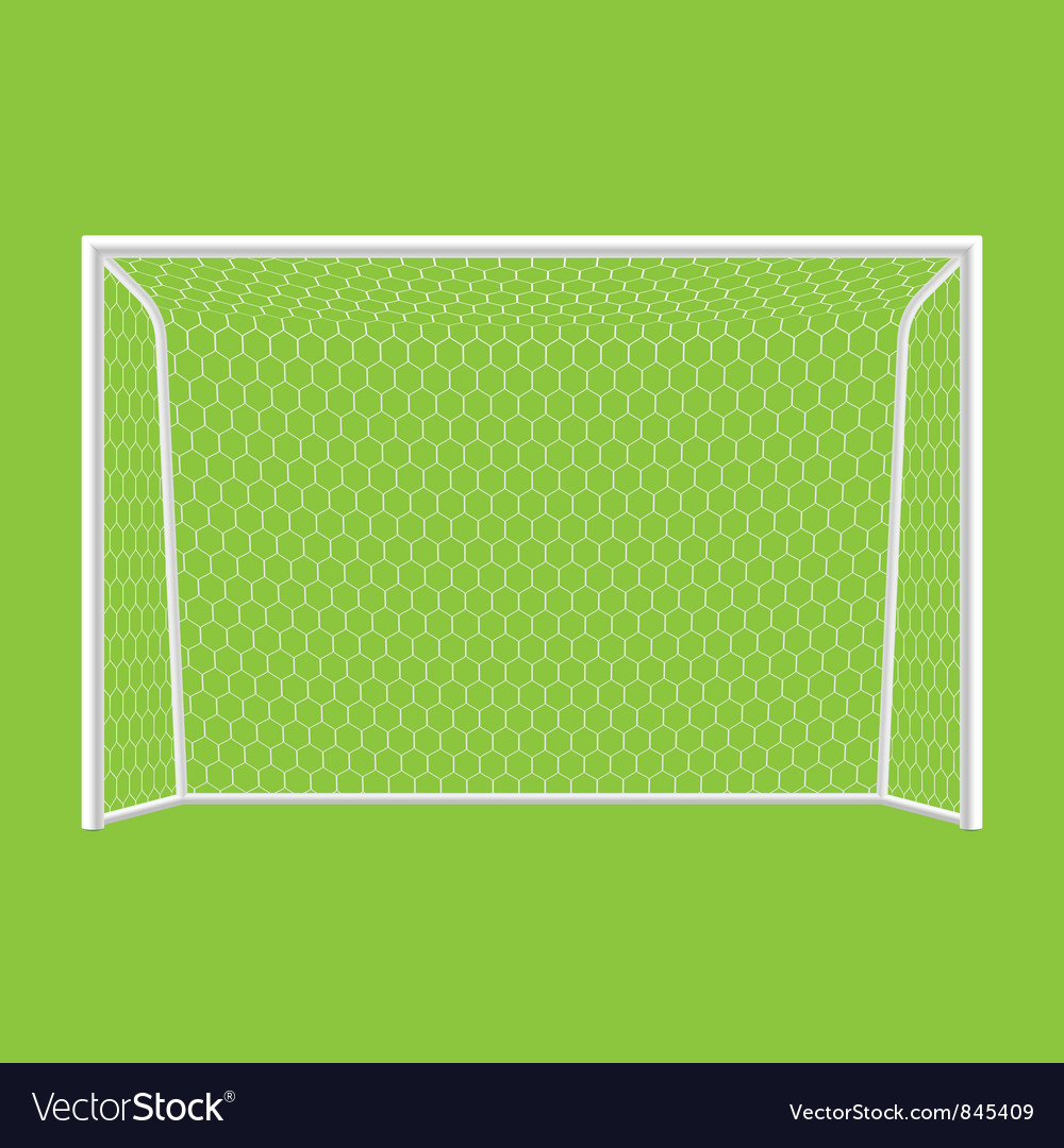 Soccer goal front view vector image