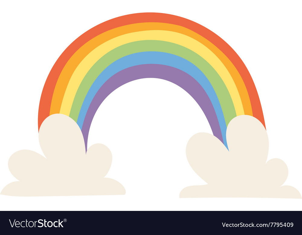 Cartoon rainbow vector image
