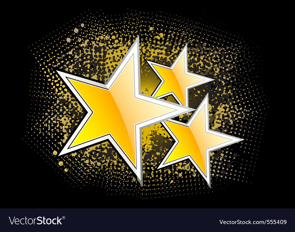Gold stars on the black background Royalty Free Vector Image - photo #12