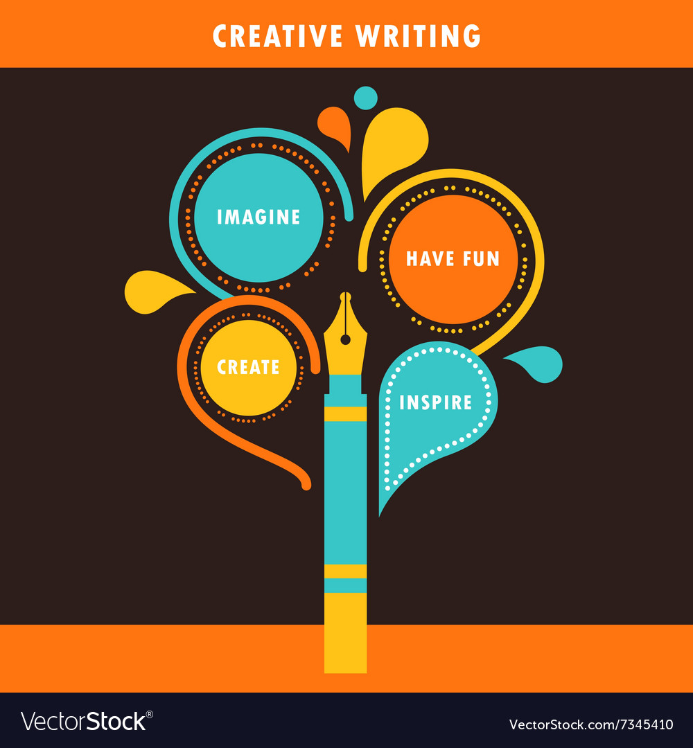 Creative Writing Infographics Template vector image
