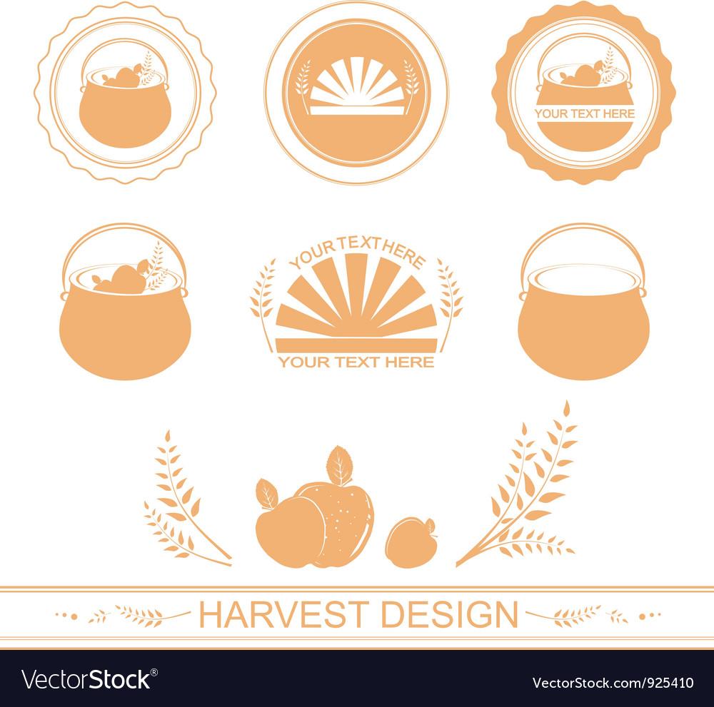 Harvest designs vector image
