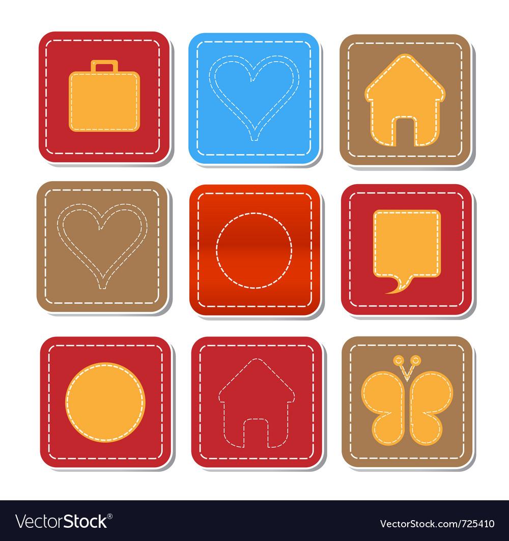Web social sign set vector image