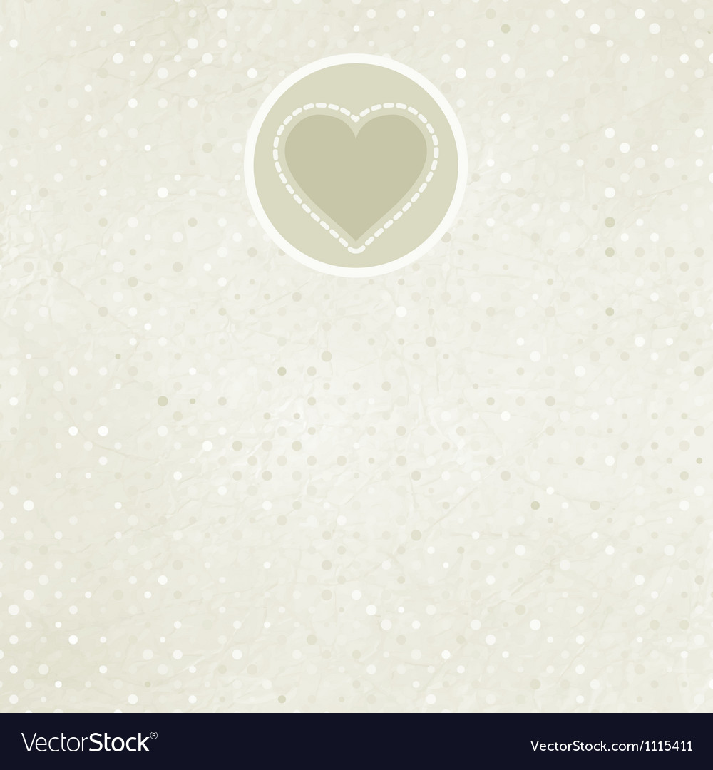 Valentine card with heart EPS 8 vector image