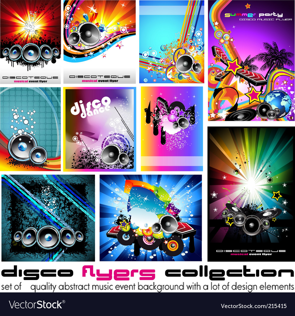 Abstract music backgrounds vector image