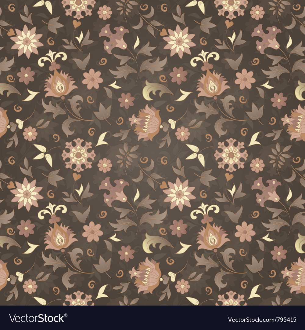 Retro flower seamless vector image