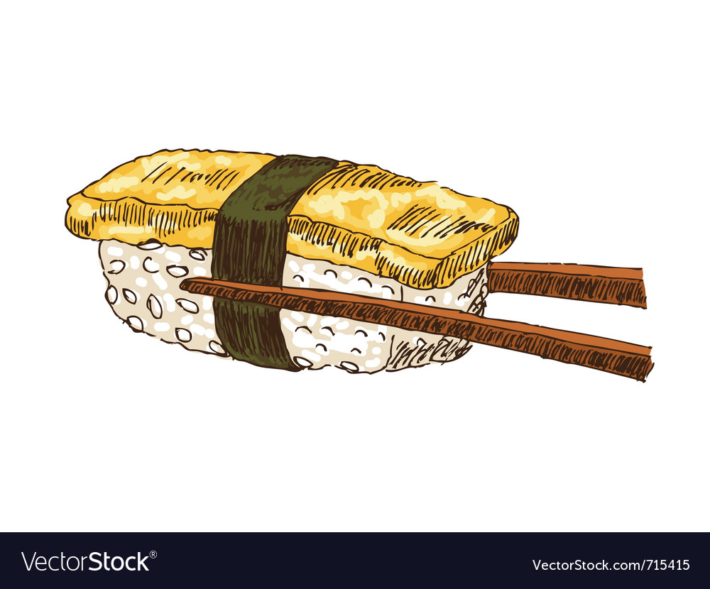 Sushi with tofu vector image