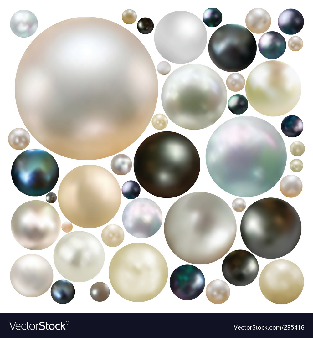 Coloured pearls vector image