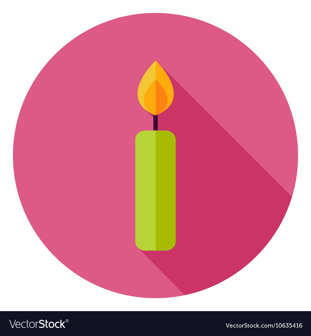 Candle Circle Icon vector image