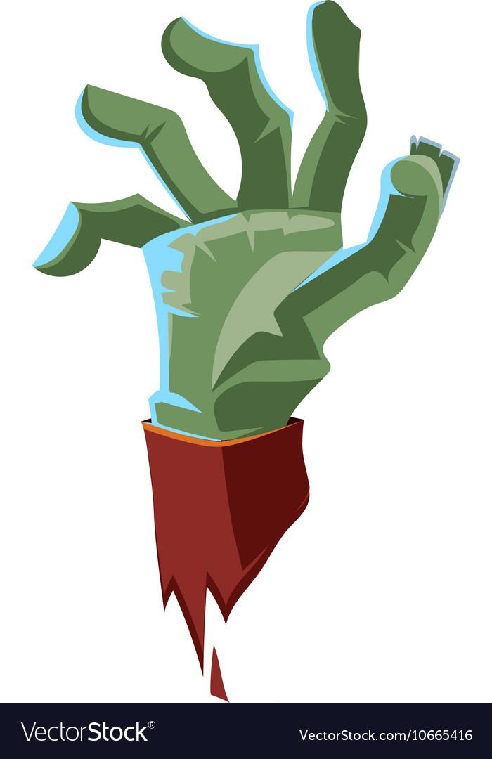 Dead Man green arm vector image