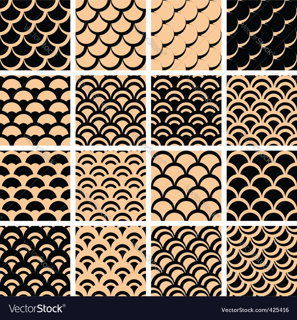 Fish scales pattern vector image