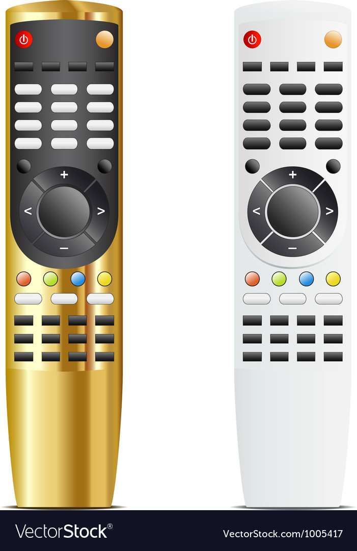 Golden and white remote control vector image