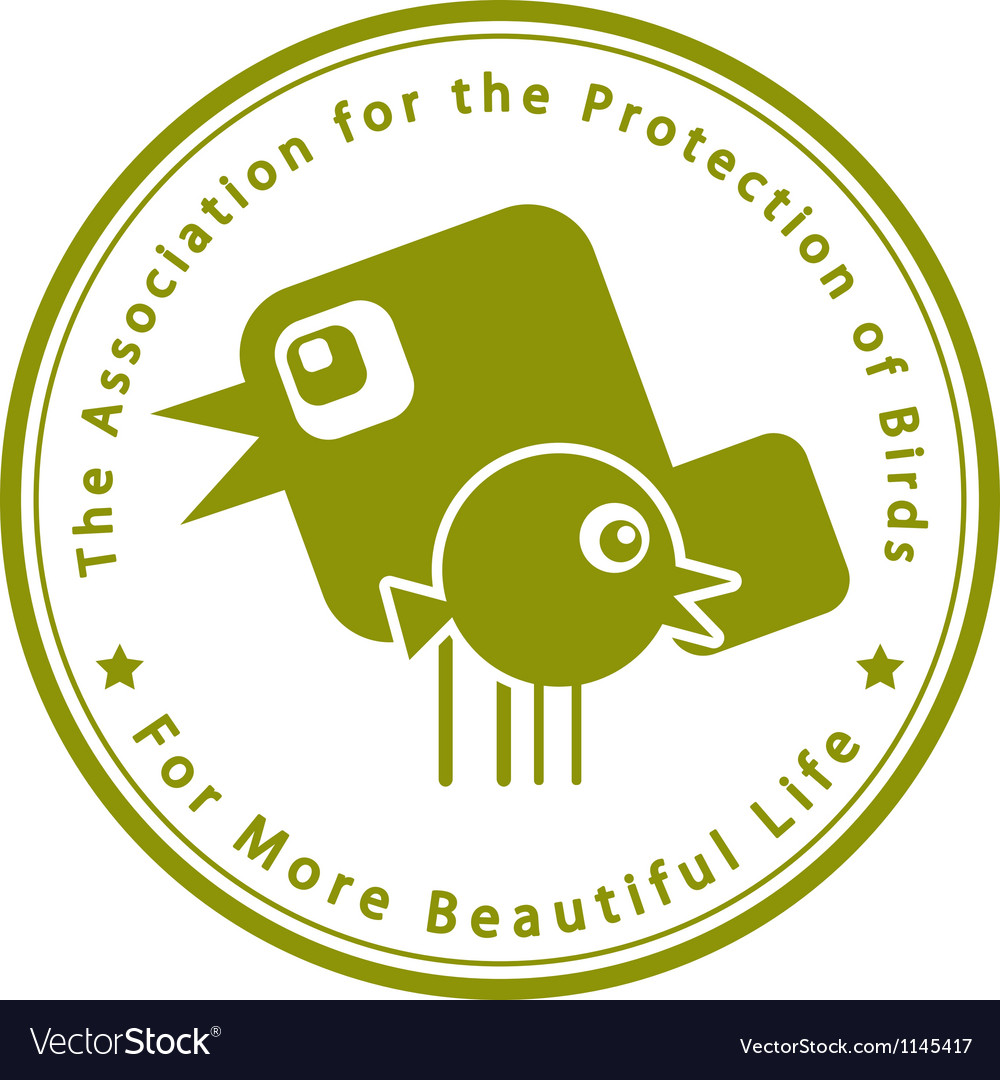 The Association for the Protection of Birds vector image