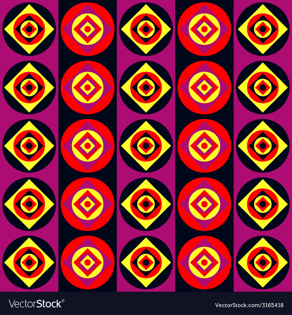 Acid disco pattern vector image