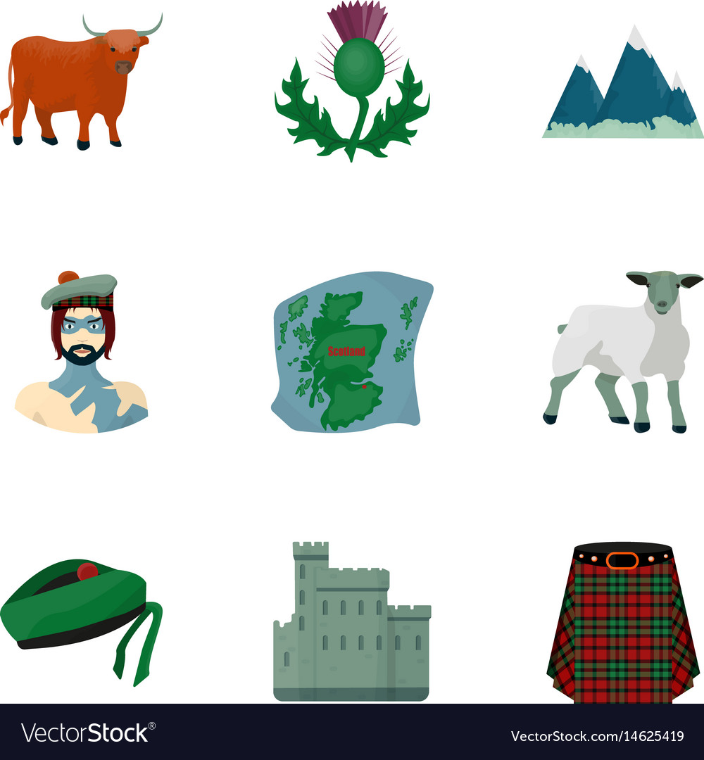 National symbols of scotland scottish attractions vector image national symbols of scotland scottish attractions vector image buycottarizona Image collections