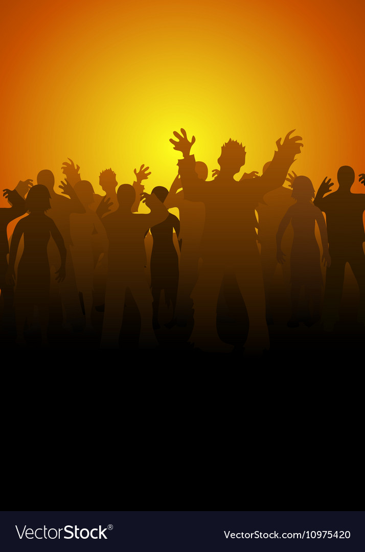 Crouds of zombies vector image
